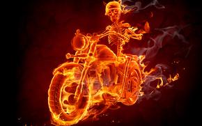 Fire, Smoke, Biker