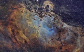 nebulosa, spazio, Stella