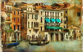 vintage, Venedig, Italien