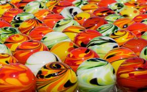 стеклянные шарики, шарики, макро, текстура