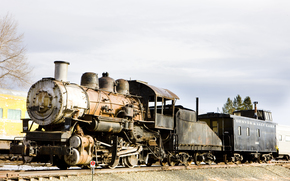 Steam, locomotive, Colorado Railroad Museum, USA