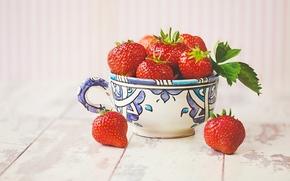 strawberries, BERRY, cup, mug