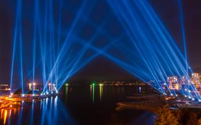 light beam show, Vancouver, Canada