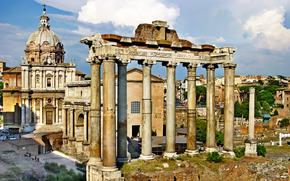 Forum Romanum, Roma, Italien, vintage