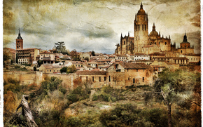 Segovia, Spain, vintage