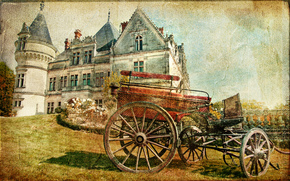 Castle, carriage, vintage