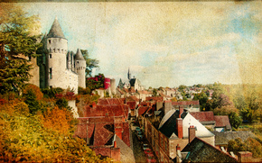 Montresor castle, Indre-et-Loire department, France, vintage