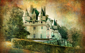 Usse castle, Castle, Indre-et-Loire department, France, vintage