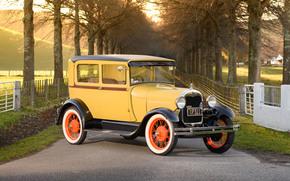 1928 Ford Model A Tudor, Ford, Tudor, ретро, классика