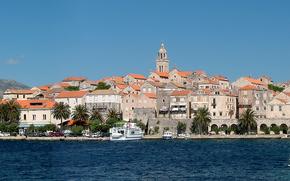 Korcula, Isola, Costa, croazia, panoramica