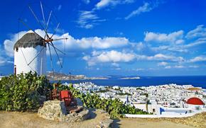 mill, Mykonos island, Greece