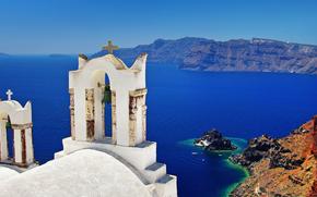 Chiesa, Oia città, Santorini, Grecia