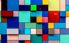 Multicolored, TEXTURE, rectangles, squares