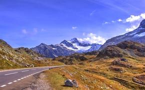 дорога, горы, пейзаж
