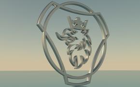 Scania_logo, Scania, Griffin, Scania logo, 3D logo scania.