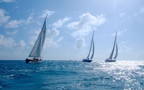 фотокартина, печать на холсте на заказ Украина ArtHolst Sint Maarten, Caribbean Sea, Синт-Мартен, Карибское море, яхты, регата, море