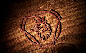 Scania logo 3D, Logo scsnia, Scania, Griffin, Scania logo, 3D logo scania.