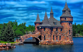 Boldt Castello, Heart Island, Alexandria Bay, New York, USA