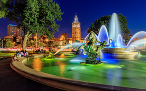 JC Nichols Memorial Fountain, Country Club Plaza, Kansas City, Missouri, Kansas City, Missouri, FOUNTAIN, area, sculpture