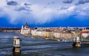 Parliament, Chain Bridge, Budapest, Hungary