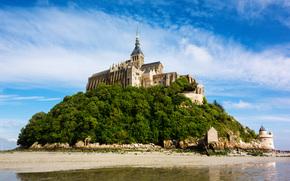 Le Mont Saint Michel, Insel Gemeinde, Normandie, Frankreich