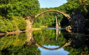 Kromlauer Park, Devil's Bridge, Germany