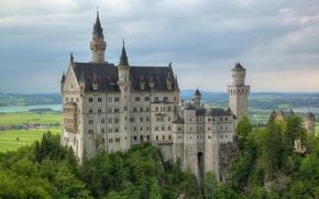 Neuschwanstein Castle, Bavaria, Germany, Замок Нойшванштайн, Бавария, Германия