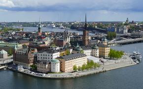 La ciudad de Estocolmo, Torre del ayuntamiento, Suecia