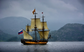 norway, Norwegian Sea, Norway, Norwegian Sea, The Standard frigate, frigate, standard, sailfish, sea, Mountains