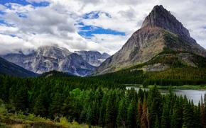 pico de la montaña, Parque Nacional Glacier, Montana, EE.UU.