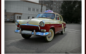 car, retro, Volga