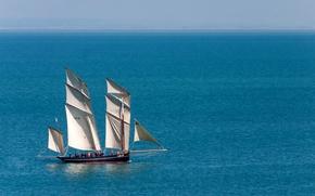фотокартина, печать на холсте на заказ Украина ArtHolst La Cancalaise, парусник, люггер, море