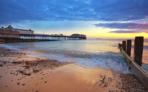 sunset, Cromer Pier, Norfolk Coast, United Kingdom