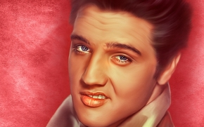 Elvis Presley, Elvis Presley, singer, King of Rock 'n' Roll, rock'n'roll, face, portrait, TEXTURE