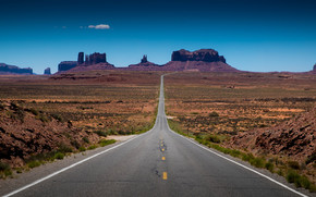Monument Valley, road, field, Rocks, landscape