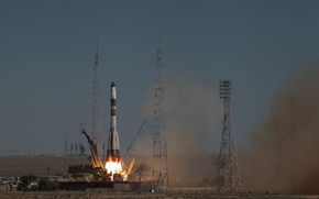 rocket, Union, progress, start, Spaceport, Baikonur, space