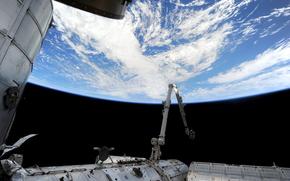 Атлантический океан, Земля, МКС, космос