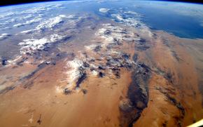 Глаз Сахары, пустыня, Африка, вид из космоса