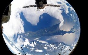 Земля, остров, Сахалин, Россия, МКС, космос