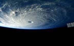Тайфун Майсак, Земля, космос, МКС, погода