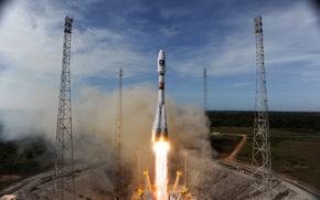 Ракета-носитель, Союз-СТ-А, с европейским спутником, Плеяды-1Б, космос