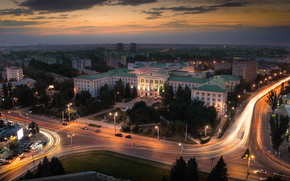 Rostov, Université technique, Russie, ville, rue, aube