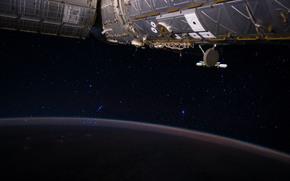 国际空间站, 空间, 明星, 表面, 土地
