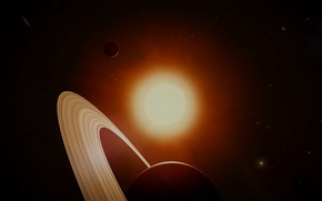 Saturn, sun, Star, space