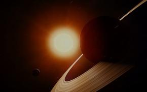 Saturno, sole, Stella, SPACE, spazio