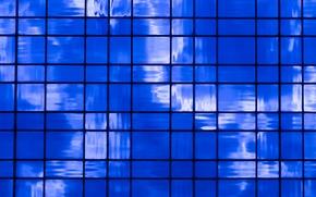прямоугольники, блоки, синева, текстура