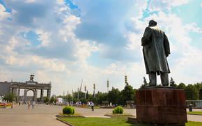 ENEA, Moscow, Russia, monument, lenin, sky