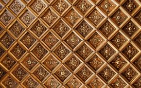 потолок, узоры, буквы, ромбы, текстура