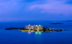 Isleta Marina, Fajardo, Portorico, Oceano Atlantico, Fajardo, Puerto Rico, Oceano Atlantico, oceano, isola