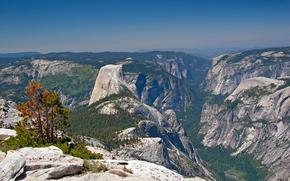 вид с верху, горы, скалы, деревья, пейзаж